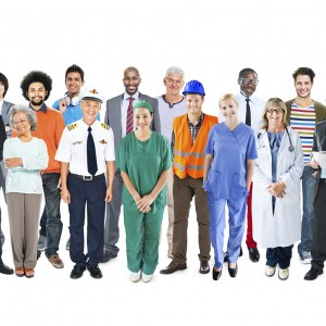 Group of Multiethnic Diverse Mixed Occupation People